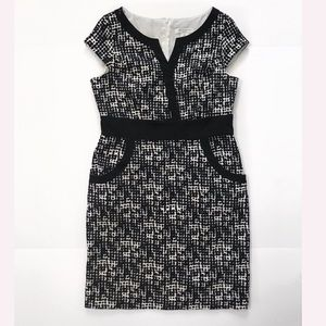 Midi dress black and white size 12p